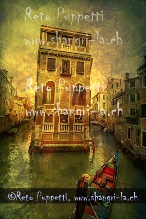 Venedig Gondeln I
